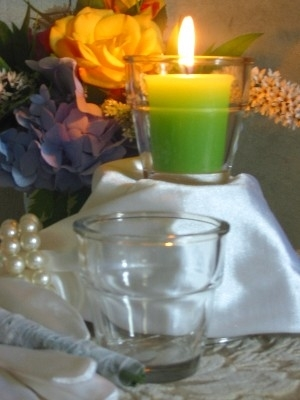 Flower pot candle holder