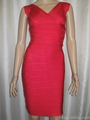 Herve Leger Bandage Dress red hl010
