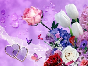 Flowers wallpaper By mrm