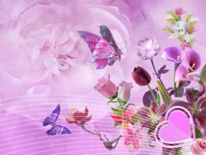 Art Wallpaper Flowers mrm