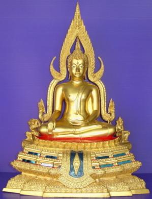 พระพุทธชินราช เนื้อโลหะ ทองเหลือง ปิดทองคำแท้