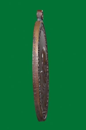 เหรียญพระอาจารย์นำ วัดดอนศาลา รุ่นแรก พ.ศ.2519 บล็อกลาแตกบาง รอยตัดข้าง