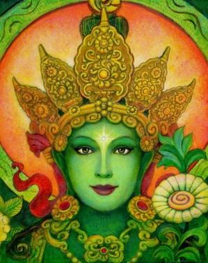 goddess green taras face sue halstenberg