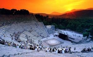 Epidaurus theater by night 2