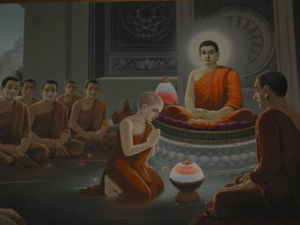 Ordaining His Son,Rahula พระราหุลรับการบรรพชา