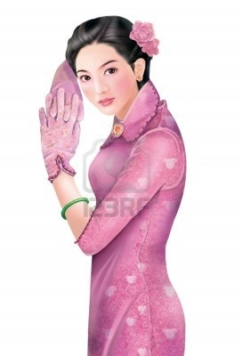 8996337 3d drawing 1930s old style chinese woman 050