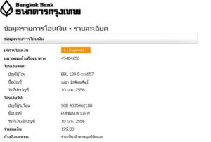 รายการทำบุญในเดือนมกราคม 2556 (บางส่วน)