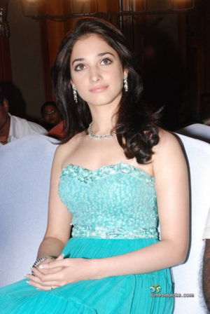 tamannah in blue dress pictures 3
