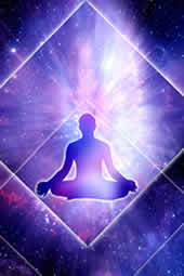 Man in meditation state.