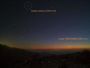 ดาวหาง Pan-STARRS และ ดาวหาง Lemmon