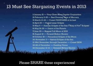 เฝ้าดูท้องฟ้าปี 2013