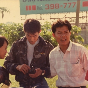 ช่วงเข้าอาสาเป็นพนักงานวิทยุในงานวิ่ง กรุงเทพมาราธอน