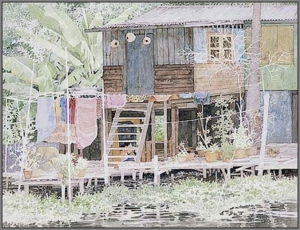 waterlife009tm2 Watercolor Painting Somboon Phoungdorkmai