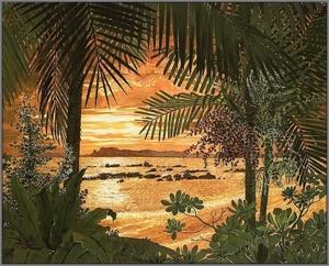 sunsetcm1 Watercolor Painting Somboon Phoungdorkmai
