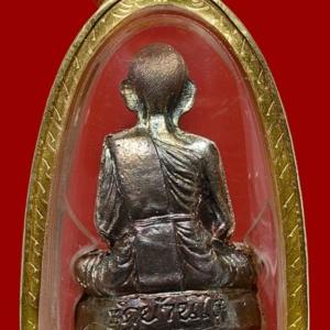 รูปเหมือนปั้มเทพประทานพร พ.ศ. 2536 หลวงพ่อคูณ วัดบ้านไร่ เนื้อเงิน ผิวรุ้ง บล็อควงเดือน