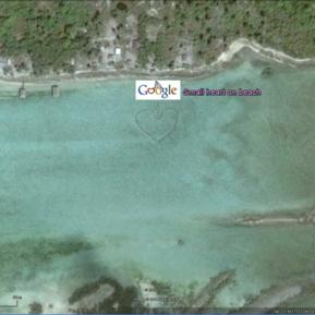Small heart on beach, Marshall Islands