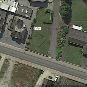 Heart shape in garden, Belgium