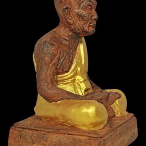 """พระบูชาหลวงพ่อทวด เสาร์๕ ปี๕๕ เนื้อว่านแดงลงทอง ผสมดินกากยายักษ์ หน้าตัก 3.9"""""""