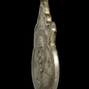 เหรียญน้ำเต้าเล็ก หลังยันต์นูน หลวงปู่ทิมวัดละหารไร่ ปี 16 จ.ระยอง