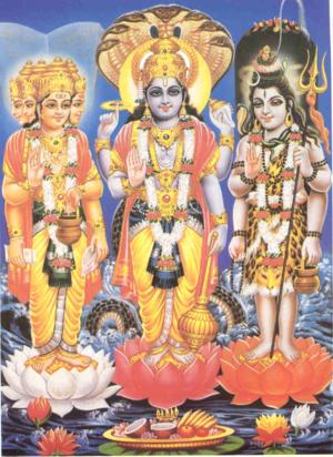 Brahma ,Vishnu ,Shiva