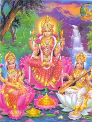 Lakshmi ,Parvati ,Saraswati